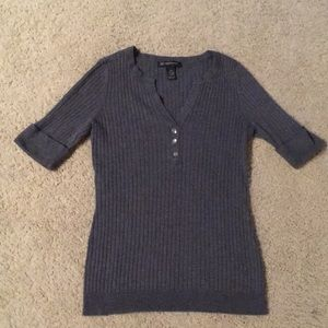 INC dark grey sweater with rhinestone details!